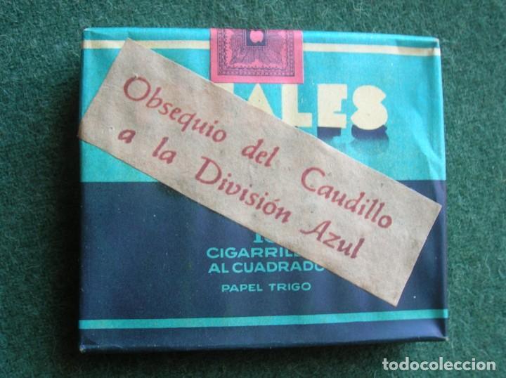 OBSEQUIO DEL CAUDILLO A LA DIVISION AZUL. PAQUETE SIN ABRIR MARCA IDEALES. (Militar - Propaganda y Documentos)
