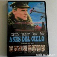 Militaria: DVD ASES DEL CIELO PELÍCULA 1ª GUERRA MUNDIAL MCDOWELL PLUMMER - AVIADORES AVIONES EJÉRCITO DE AIRE. Lote 190588450
