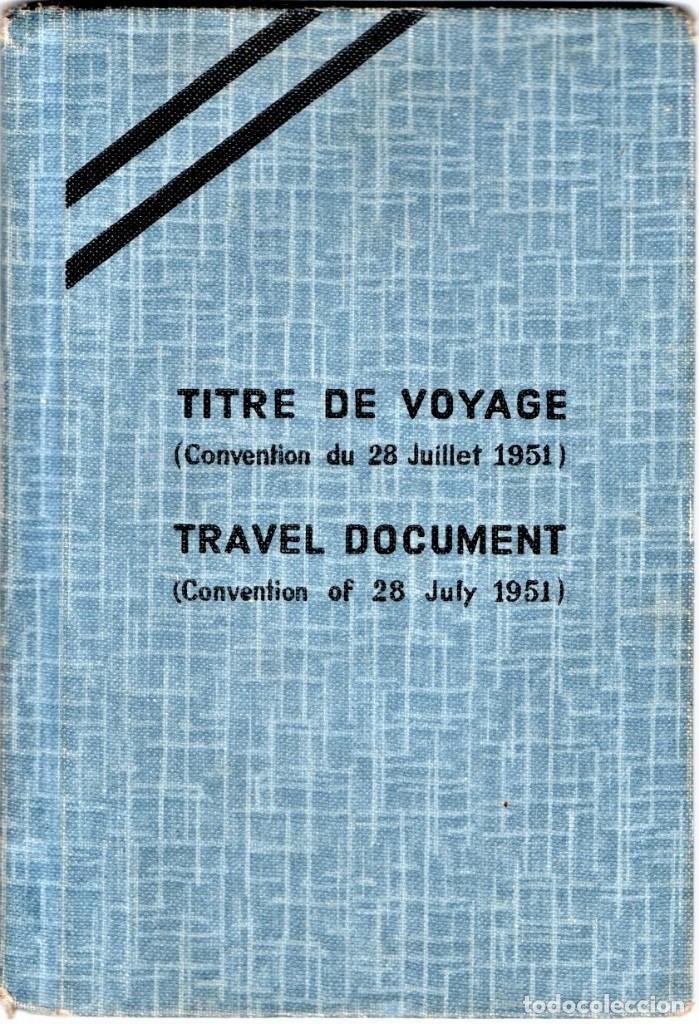 GUERRA CIVIL ESPAÑOLA,DUCUMENTO REFUGIADO ANARQUISTA,CNT-A.I.T ESPAÑOL,1956 EXPEDIDO EN CASABLANCA (Militar - Propaganda y Documentos)