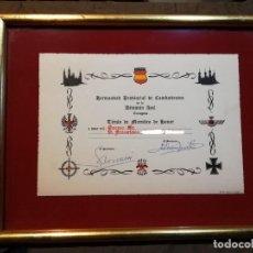 Militaria: HERMANDAD DIVISION COMBATIENTES DIVISION AZUL MIEMBRO DE HONOR. Lote 190993331