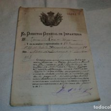 Militaria: DIRECTOR GENERAL DE INFANTERIA , DOCUMENTO DE 1887 Y COMANDANTE EN JEFE DEL 4 CUERPO DE EJERCITO1895. Lote 191053238