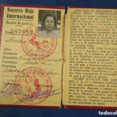 Militaria: SRI CARNET MUJER DEL SOCORRO ROJO INTERNACIONAL. ENERO 1938 GUERRA CIVIL.. Lote 191501683