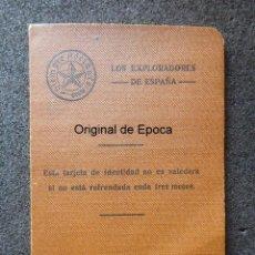 Militaria: (JX-200190)CARNET DE EXPLORADORES DE ESPAÑA,BOY-SCOUTS , ZARAGOZA ,1933 , REPÚBLICA .. Lote 191918252