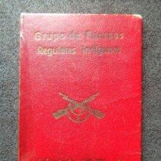 Militaria: (JX-200188)CARNET DEL GRUPO DE FUERZAS REGULARES INDÍGENAS,INFANTERÍA MELILLA Nº 2 ,NADOR MAYO 1945. Lote 192170420