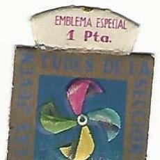 Militaria: EMBLEMA AUXILIO SOCIAL- 1 PTA- AYUDA A LAS JUVENTUDES DE LA SECCIÓN FEMENINA. Lote 192233482