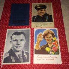 Militaria: CCCP - RUSIA - HEROES MILITARES Y FUNDA PASAPORTE - AÑOS 50. Lote 192391046