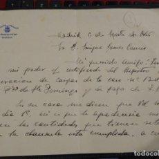 Militaria: CUARTA FIRMADA POR CONDE DE PUÑONROSTRO. MARQUÉS DE MAENZA.. Lote 192469947