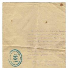 Militaria: DOCUMENTO INVITACIÓN AL GRUPO DE ZAPADORES DE F.E.T. Y DE LAS J.O.N.S. EN FECHA 17/071939. Lote 192594670