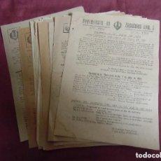 Militaria: LOTE DE DOCUMENTOS REGIMIENTO DE ZAPADORES Nº3,VALENCIA,ORDENES GENERALES .LOTE DE 20. Lote 192752485