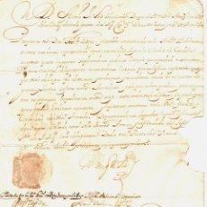 Militaria: LICENCIA DEL DUQUE DE MEDINACELI AL CONTADOR GENERAL DE LA ARMADA PARA PASAR A TIERRA FIRME CORDOBA. Lote 192861867