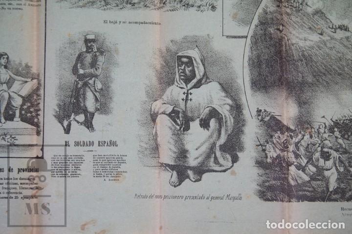 Militaria: 9 Carteles / Noticiario Ilustrado de 1ª Guerra del Rif, 1893-94 / Sucesos de Melilla - Los Tiroleses - Foto 3 - 192888580