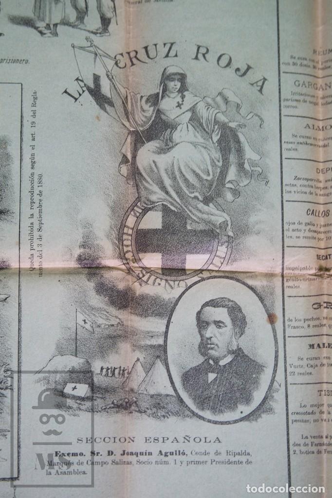 Militaria: 9 Carteles / Noticiario Ilustrado de 1ª Guerra del Rif, 1893-94 / Sucesos de Melilla - Los Tiroleses - Foto 4 - 192888580