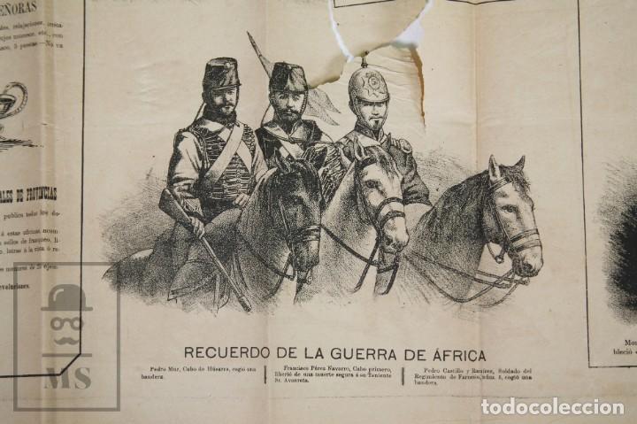 Militaria: 9 Carteles / Noticiario Ilustrado de 1ª Guerra del Rif, 1893-94 / Sucesos de Melilla - Los Tiroleses - Foto 11 - 192888580