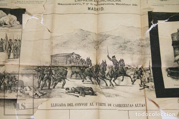 Militaria: 9 Carteles / Noticiario Ilustrado de 1ª Guerra del Rif, 1893-94 / Sucesos de Melilla - Los Tiroleses - Foto 12 - 192888580