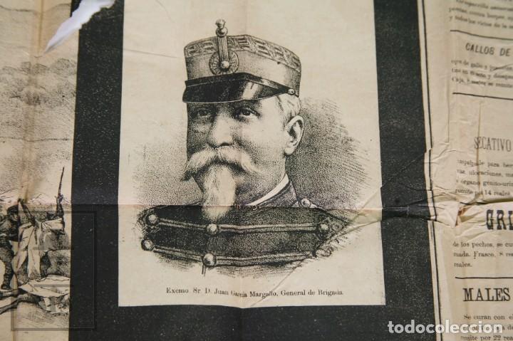 Militaria: 9 Carteles / Noticiario Ilustrado de 1ª Guerra del Rif, 1893-94 / Sucesos de Melilla - Los Tiroleses - Foto 13 - 192888580