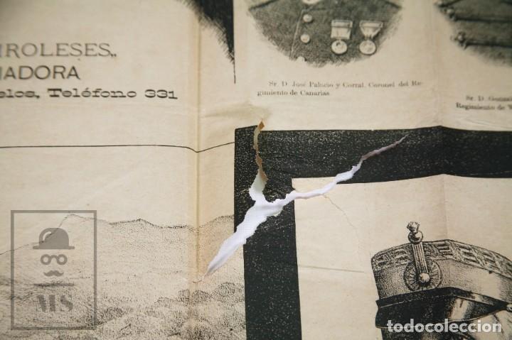 Militaria: 9 Carteles / Noticiario Ilustrado de 1ª Guerra del Rif, 1893-94 / Sucesos de Melilla - Los Tiroleses - Foto 14 - 192888580
