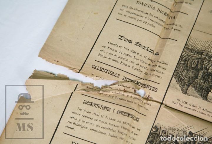 Militaria: 9 Carteles / Noticiario Ilustrado de 1ª Guerra del Rif, 1893-94 / Sucesos de Melilla - Los Tiroleses - Foto 16 - 192888580
