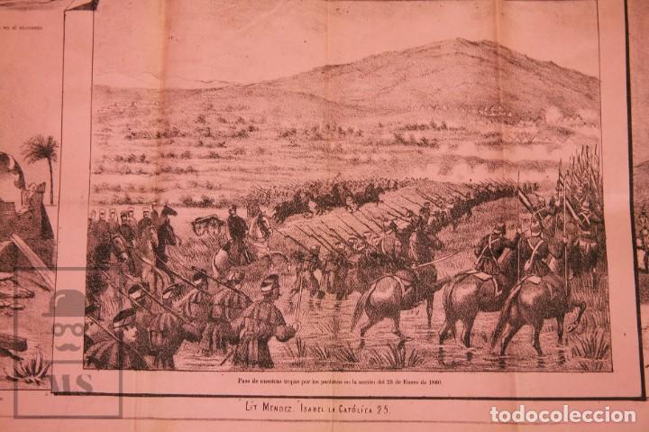 Militaria: 9 Carteles / Noticiario Ilustrado de 1ª Guerra del Rif, 1893-94 / Sucesos de Melilla - Los Tiroleses - Foto 18 - 192888580