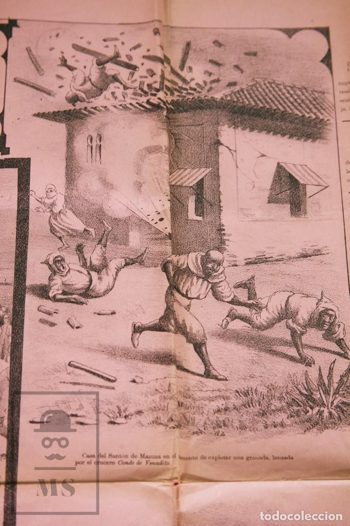 Militaria: 9 Carteles / Noticiario Ilustrado de 1ª Guerra del Rif, 1893-94 / Sucesos de Melilla - Los Tiroleses - Foto 20 - 192888580