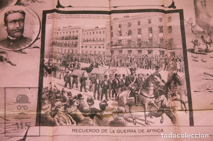 Militaria: 9 Carteles / Noticiario Ilustrado de 1ª Guerra del Rif, 1893-94 / Sucesos de Melilla - Los Tiroleses - Foto 21 - 192888580