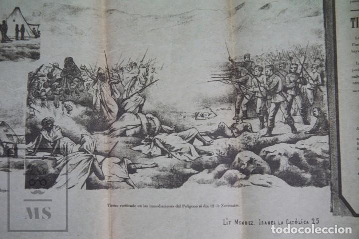 Militaria: 9 Carteles / Noticiario Ilustrado de 1ª Guerra del Rif, 1893-94 / Sucesos de Melilla - Los Tiroleses - Foto 23 - 192888580