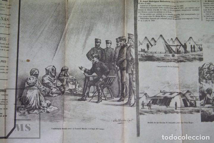 Militaria: 9 Carteles / Noticiario Ilustrado de 1ª Guerra del Rif, 1893-94 / Sucesos de Melilla - Los Tiroleses - Foto 24 - 192888580