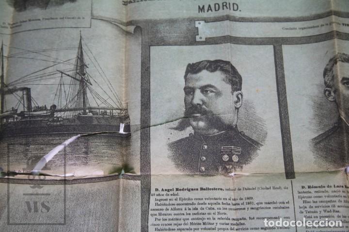 Militaria: 9 Carteles / Noticiario Ilustrado de 1ª Guerra del Rif, 1893-94 / Sucesos de Melilla - Los Tiroleses - Foto 26 - 192888580