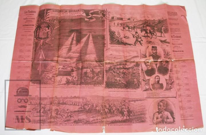 Militaria: 9 Carteles / Noticiario Ilustrado de 1ª Guerra del Rif, 1893-94 / Sucesos de Melilla - Los Tiroleses - Foto 27 - 192888580