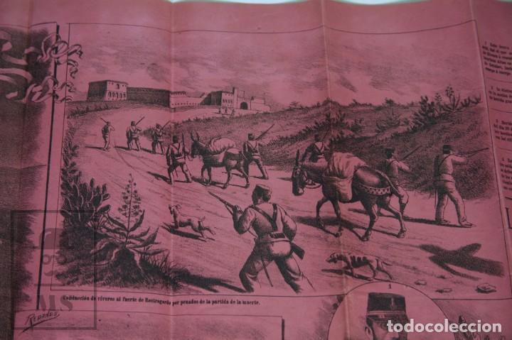 Militaria: 9 Carteles / Noticiario Ilustrado de 1ª Guerra del Rif, 1893-94 / Sucesos de Melilla - Los Tiroleses - Foto 32 - 192888580