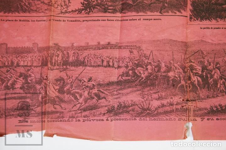 Militaria: 9 Carteles / Noticiario Ilustrado de 1ª Guerra del Rif, 1893-94 / Sucesos de Melilla - Los Tiroleses - Foto 33 - 192888580