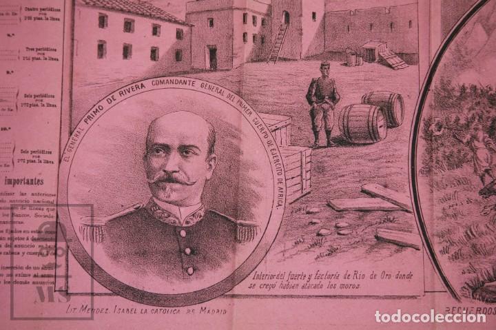 Militaria: 9 Carteles / Noticiario Ilustrado de 1ª Guerra del Rif, 1893-94 / Sucesos de Melilla - Los Tiroleses - Foto 35 - 192888580