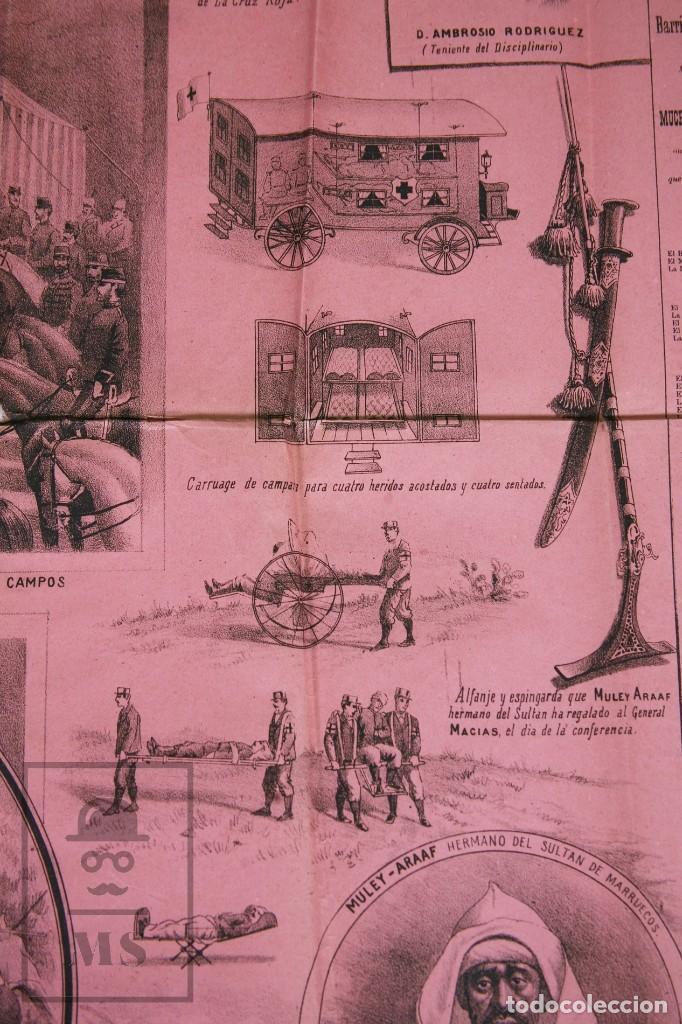 Militaria: 9 Carteles / Noticiario Ilustrado de 1ª Guerra del Rif, 1893-94 / Sucesos de Melilla - Los Tiroleses - Foto 37 - 192888580