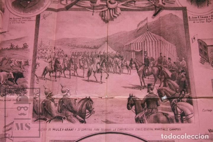 Militaria: 9 Carteles / Noticiario Ilustrado de 1ª Guerra del Rif, 1893-94 / Sucesos de Melilla - Los Tiroleses - Foto 38 - 192888580