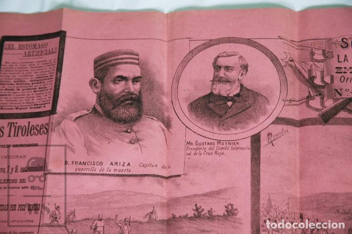 Militaria: 9 Carteles / Noticiario Ilustrado de 1ª Guerra del Rif, 1893-94 / Sucesos de Melilla - Los Tiroleses - Foto 39 - 192888580
