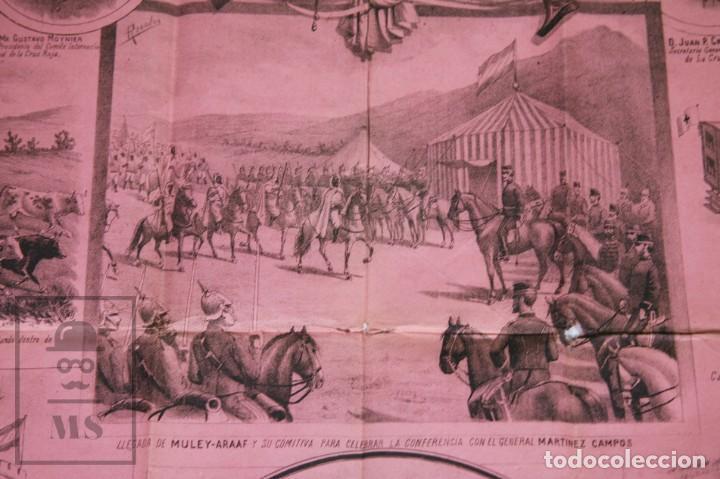 Militaria: 9 Carteles / Noticiario Ilustrado de 1ª Guerra del Rif, 1893-94 / Sucesos de Melilla - Los Tiroleses - Foto 40 - 192888580