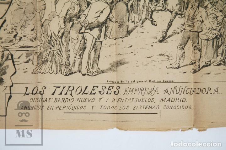 Militaria: 9 Carteles / Noticiario Ilustrado de 1ª Guerra del Rif, 1893-94 / Sucesos de Melilla - Los Tiroleses - Foto 42 - 192888580