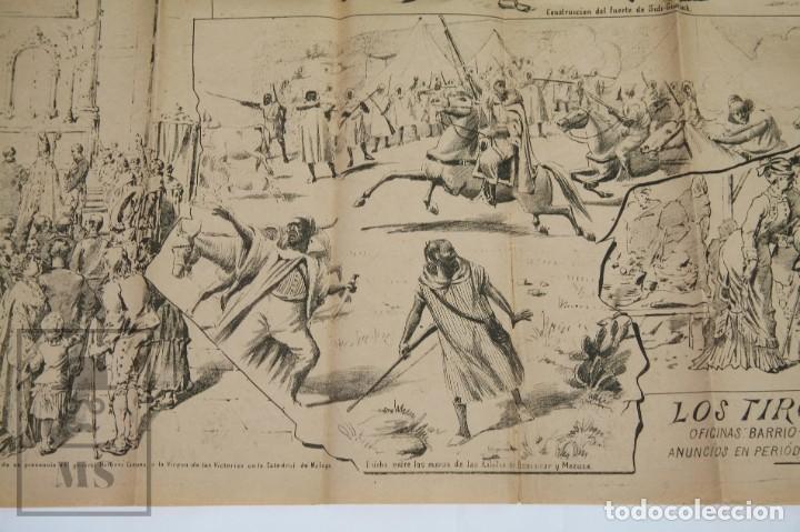 Militaria: 9 Carteles / Noticiario Ilustrado de 1ª Guerra del Rif, 1893-94 / Sucesos de Melilla - Los Tiroleses - Foto 43 - 192888580