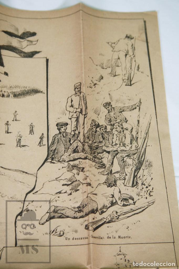 Militaria: 9 Carteles / Noticiario Ilustrado de 1ª Guerra del Rif, 1893-94 / Sucesos de Melilla - Los Tiroleses - Foto 44 - 192888580