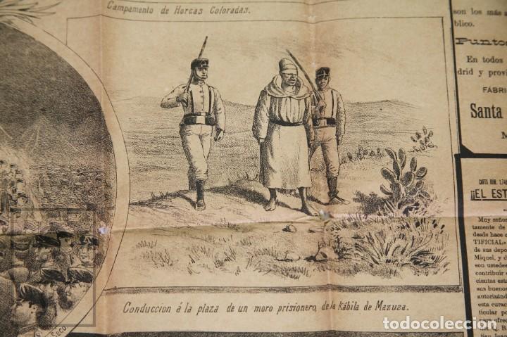 Militaria: 9 Carteles / Noticiario Ilustrado de 1ª Guerra del Rif, 1893-94 / Sucesos de Melilla - Los Tiroleses - Foto 46 - 192888580