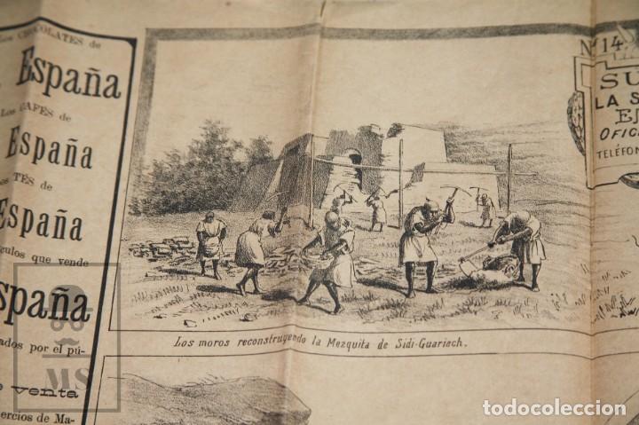 Militaria: 9 Carteles / Noticiario Ilustrado de 1ª Guerra del Rif, 1893-94 / Sucesos de Melilla - Los Tiroleses - Foto 48 - 192888580