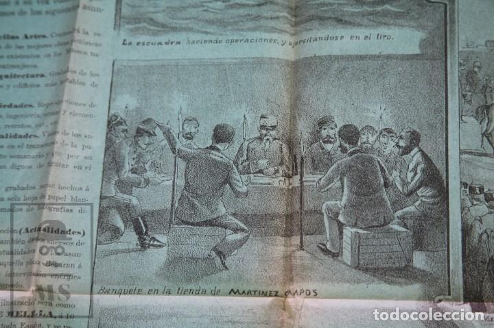 Militaria: 9 Carteles / Noticiario Ilustrado de 1ª Guerra del Rif, 1893-94 / Sucesos de Melilla - Los Tiroleses - Foto 50 - 192888580