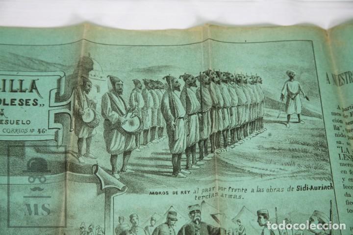 Militaria: 9 Carteles / Noticiario Ilustrado de 1ª Guerra del Rif, 1893-94 / Sucesos de Melilla - Los Tiroleses - Foto 51 - 192888580