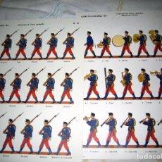 Militaria: 2 LAMINAS DE SOLDADOS ESPAÑOLES 1910- 2- MUSEO DEL EJERCITO. Lote 193769917