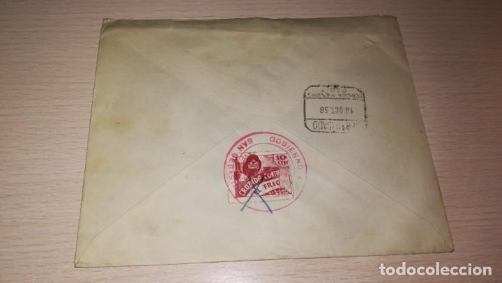 Militaria: ENTERO POSTAL GOBIERNO MILITAR DE SAN SEBASTIAN-CENSURADA, GUERRA CIVIL ESPAÑOLA.AÑO 1938 - Foto 2 - 194098902