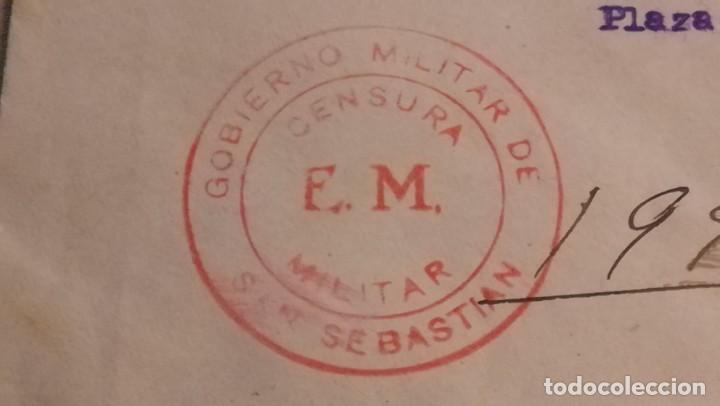 Militaria: ENTERO POSTAL GOBIERNO MILITAR DE SAN SEBASTIAN-CENSURADA, GUERRA CIVIL ESPAÑOLA.AÑO 1938 - Foto 5 - 194098902