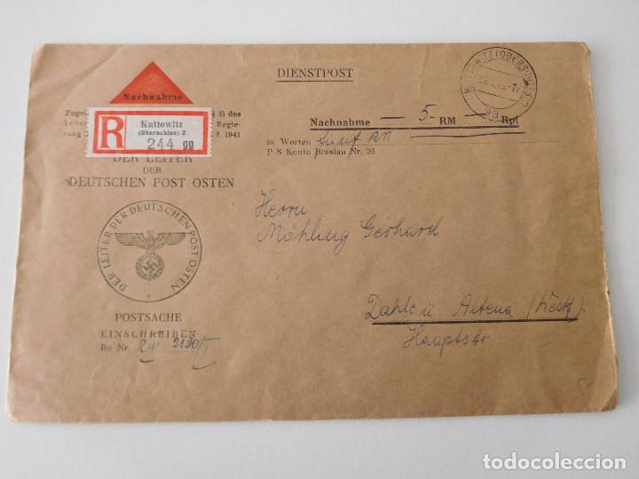 SOBRE ORIGINAL DE LA ALEMANIA NAZI (Militar - Propaganda y Documentos)