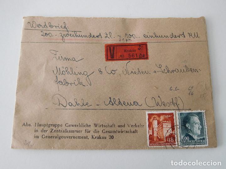 SOBRE ORIGINAL DE LA ALEMANIA NAZI CON LACRES (Militar - Propaganda y Documentos)