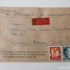 Militaria: SOBRE ORIGINAL DE LA ALEMANIA NAZI CON LACRES. Lote 194107853