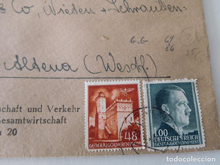 Militaria: Sobre original de la Alemania nazi con lacres - Foto 2 - 194107853