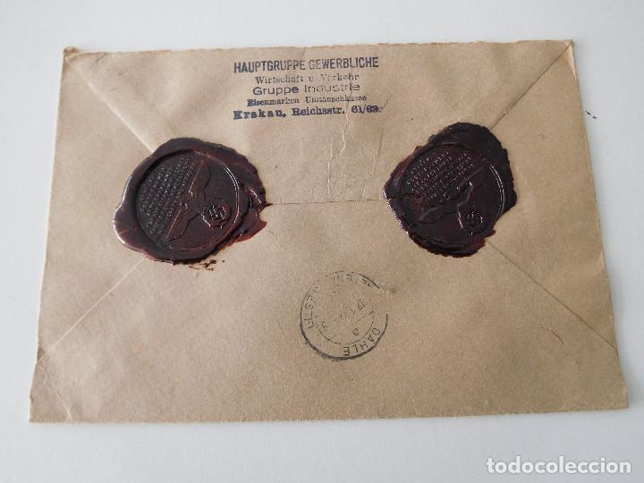 Militaria: Sobre original de la Alemania nazi con lacres - Foto 4 - 194107853